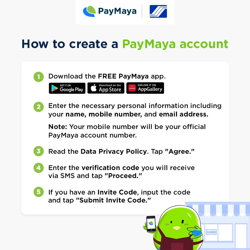 PayMaya-SSS Create Account