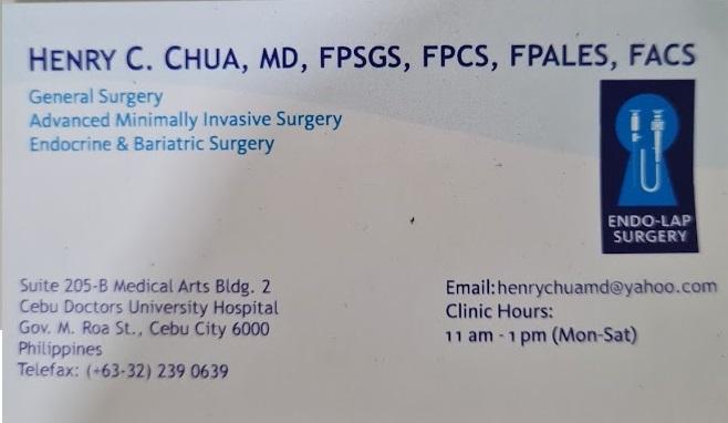 Dr. Henry Chua Details