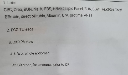 Tests for OR Clearance
